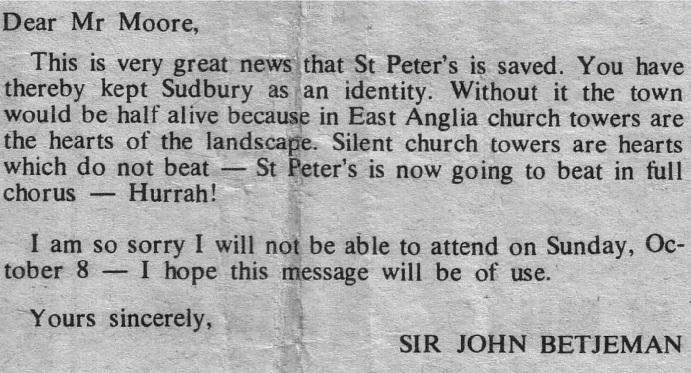 St Peter's - Sir John Betjeman