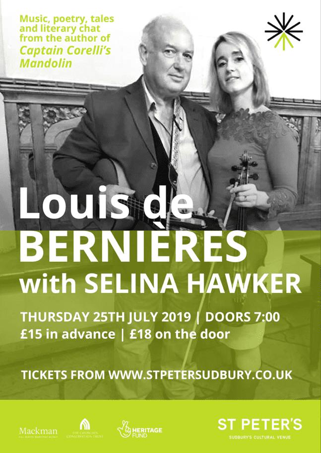 Louis De Bernières and Selina Hawker - St Peter's, Sudbury