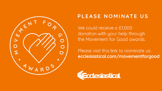 Nominate St Peter's for the Movement for Good Awards